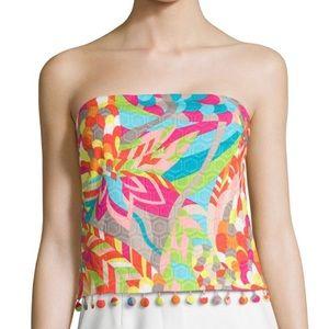 Trina Turk Strapless Multicolored Bandeau Top XS